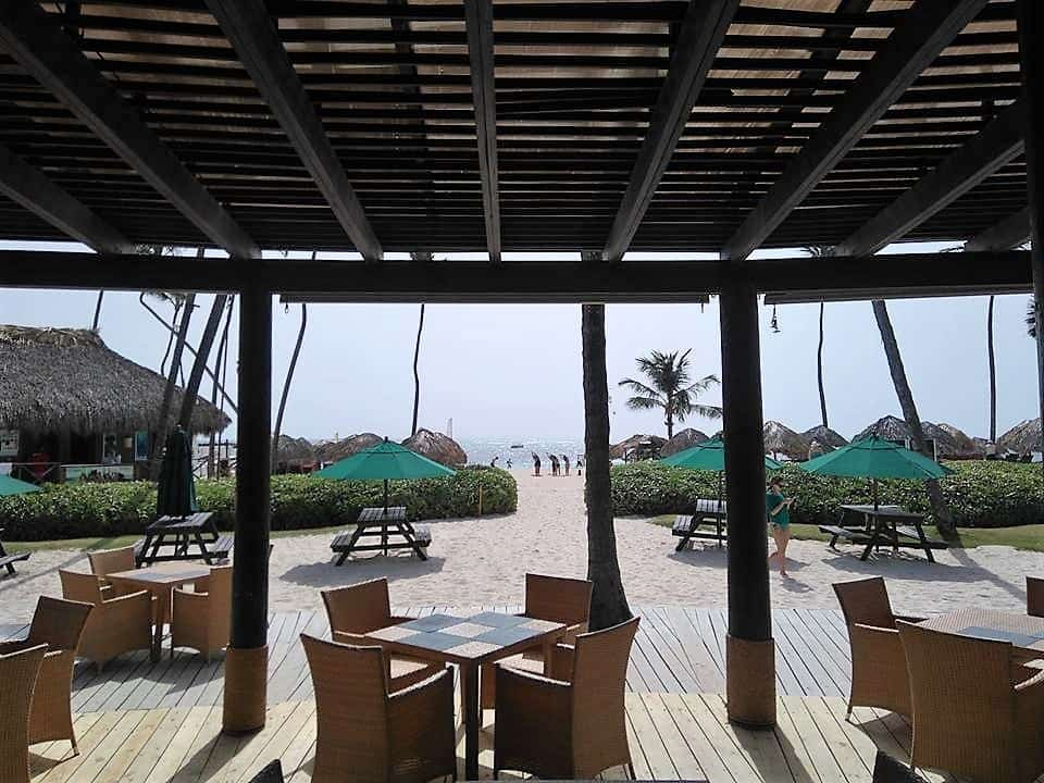 View from the Castaway's restaurant in Now Larimar Punta Cana