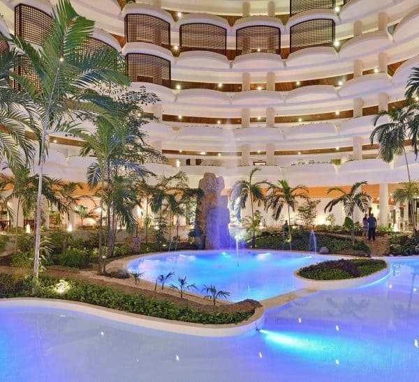 Melia Varadero lobby looking across the indoor water feature