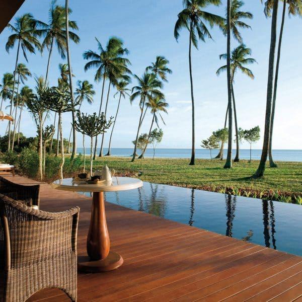View over the sea from the villa terrace at The Residence Zanzibar in Tanzania