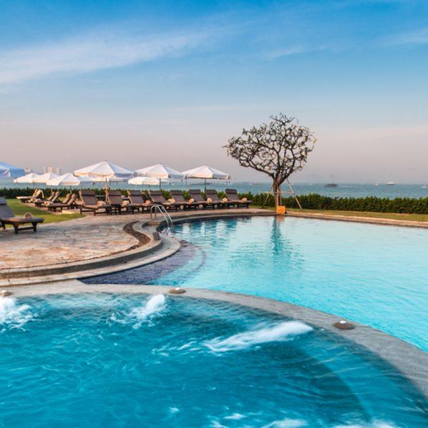 View of the lagoon pool at Dusit Thani Pattaya