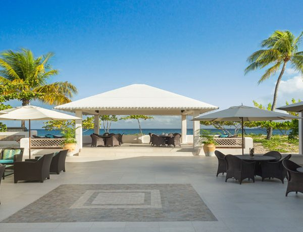 View of the dining area at Spice Island Beach Resort in Grenada