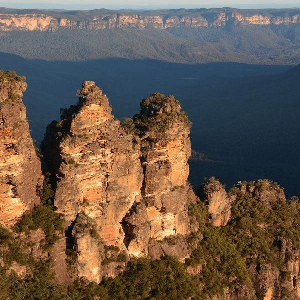 Aerial view of the Blue Mountains in Australia