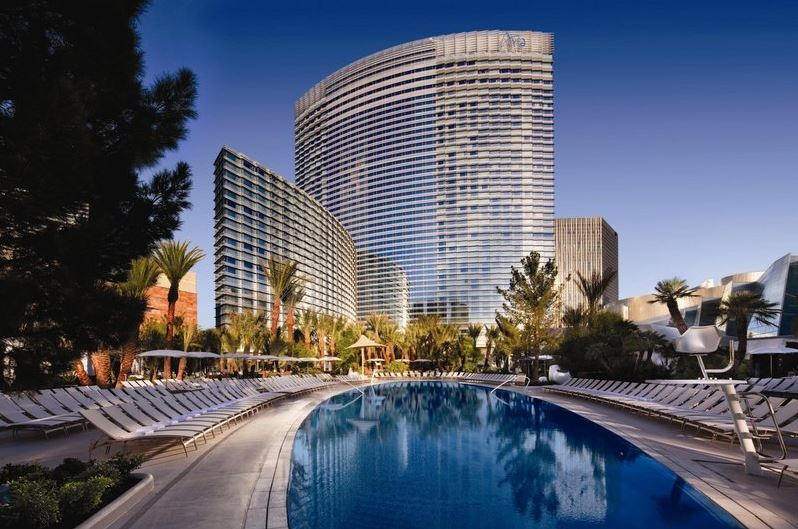 Exterior view of the ARIA Hotel Las Vegas