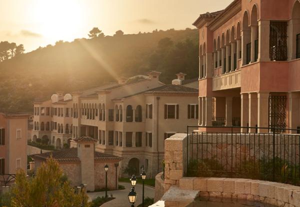 View of the exterior at sunset at Park Hyatt Mallorca