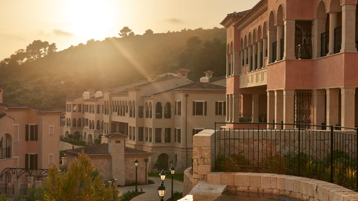 View of the exterior at sunset at Park Hyatt Mallorca