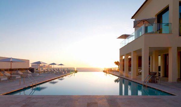 View of the infinity pool at Jumeirah Port Soller in Majorca