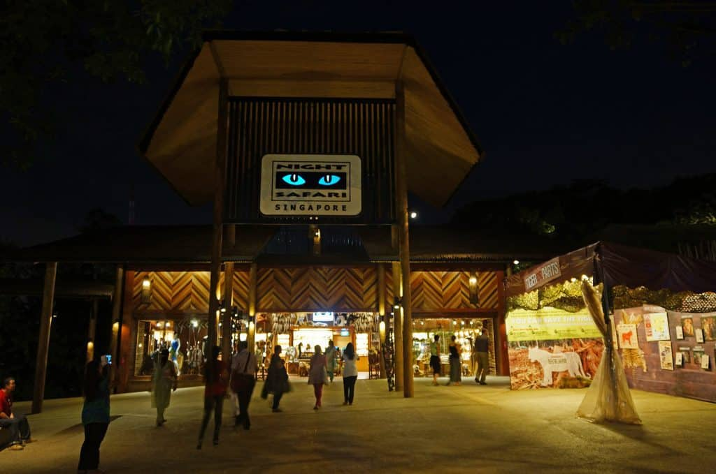 Outside view of the entrance to the Night Safari in Singapore. Things to do in Singapore.
