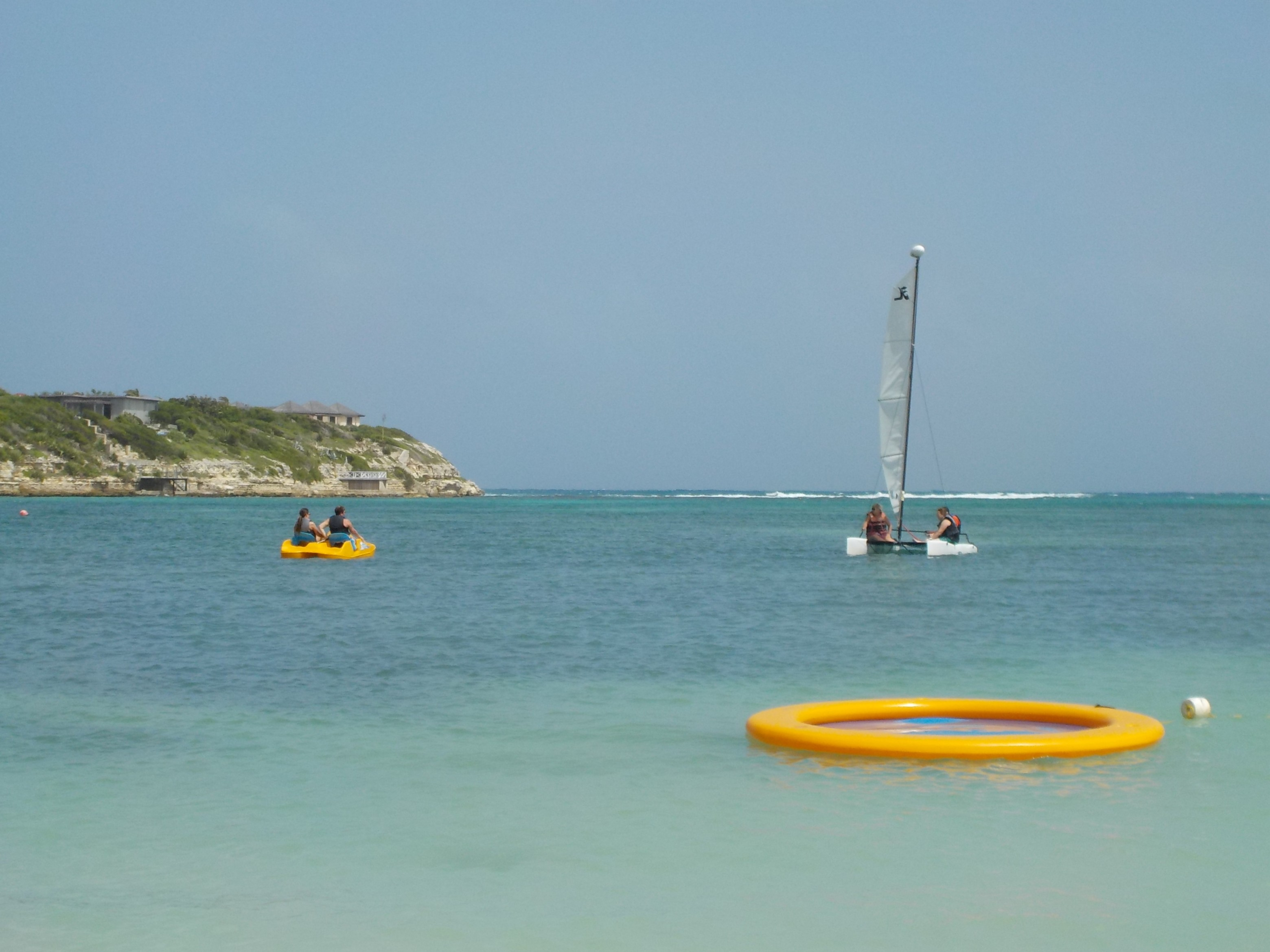 Water sports on Lover's Beach at The Verandah Resort in Antigua