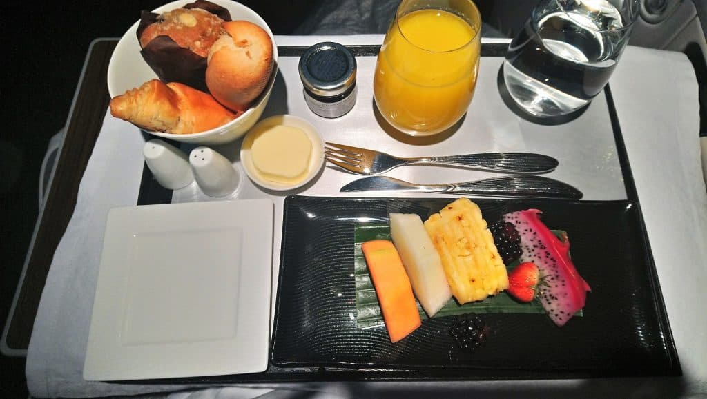 The Continental Breakfast on Qatar Airways Business Class