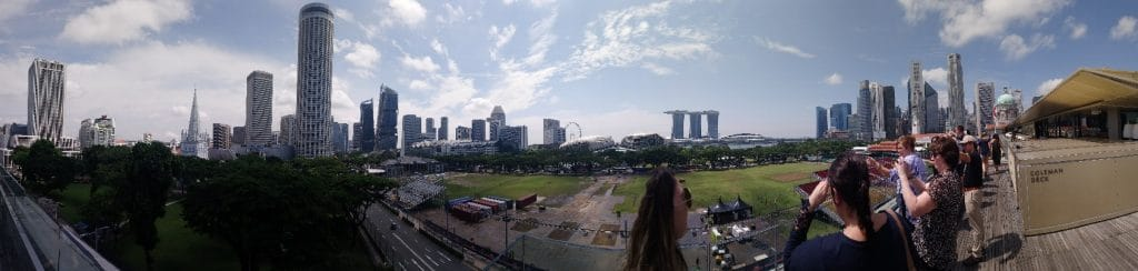 A panoramic view of the city of Singapore. Things to do in Singapore blog post.