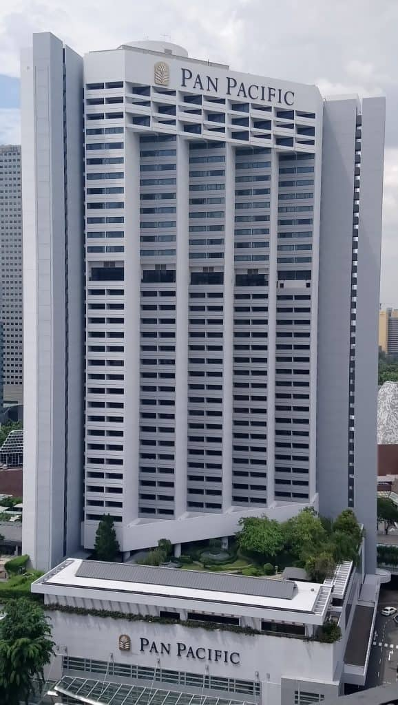 Exterior view of the Pan Pacific Singapore