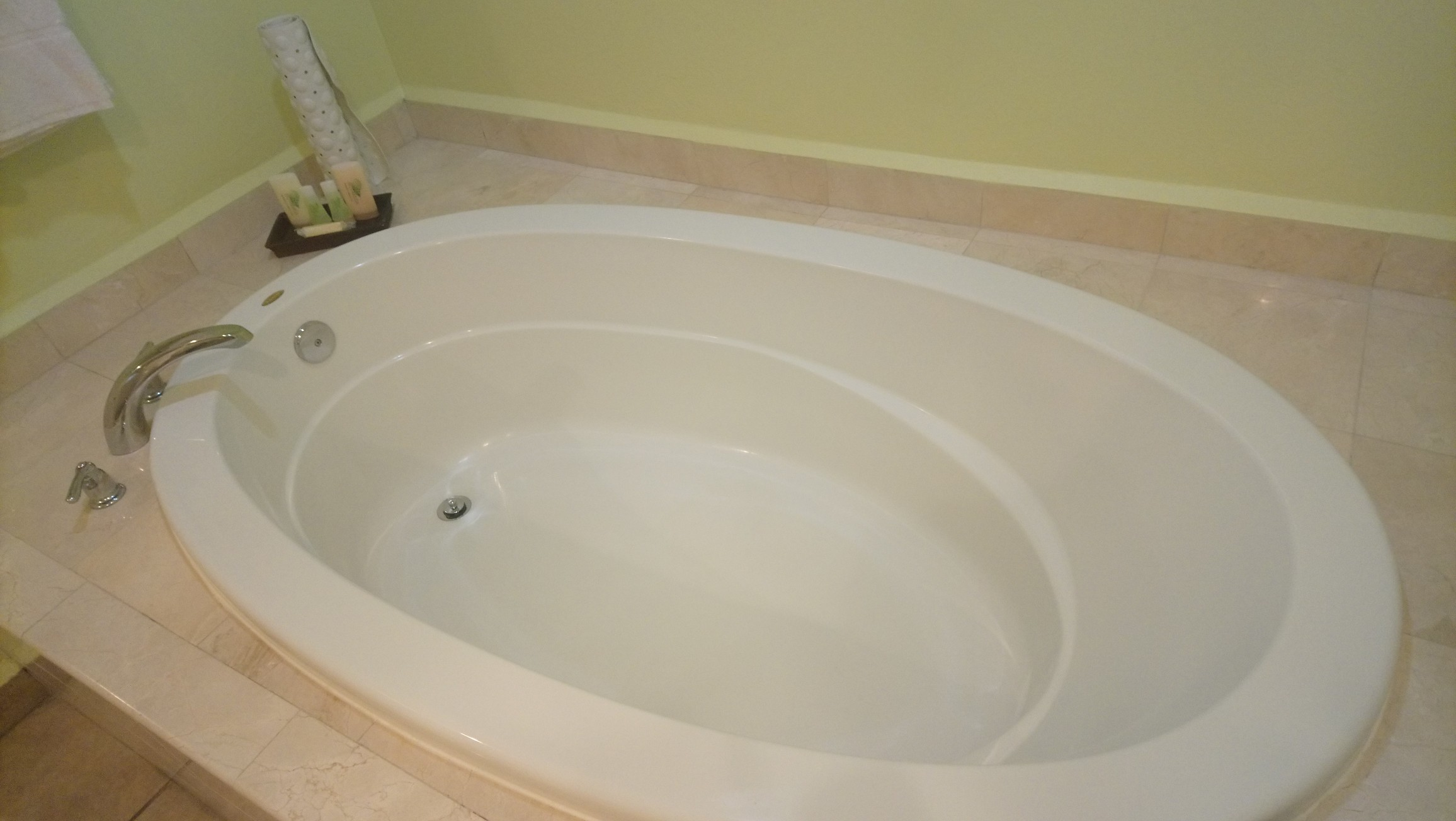 The over-sized bathtub in Royal Suites at St James Club Antigua