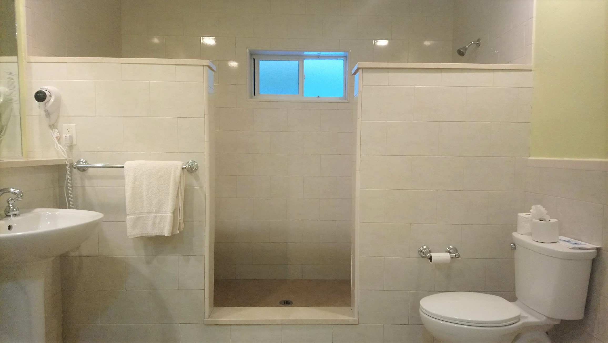 The double shower cubicle in a Royal Suite at St James Club Antigua