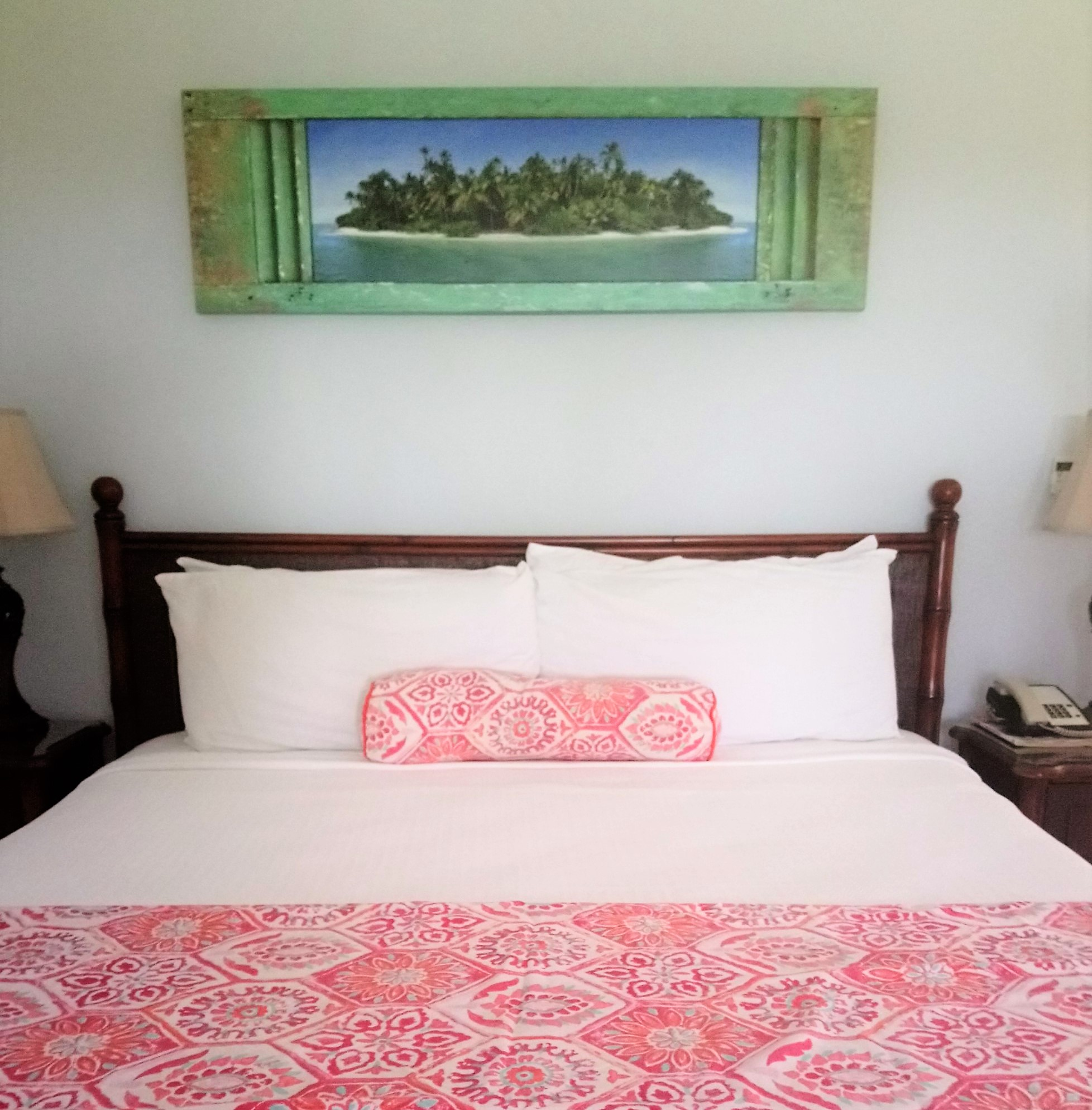 King-size bed in a Waterview Suite at The Verandah Resort Antigua