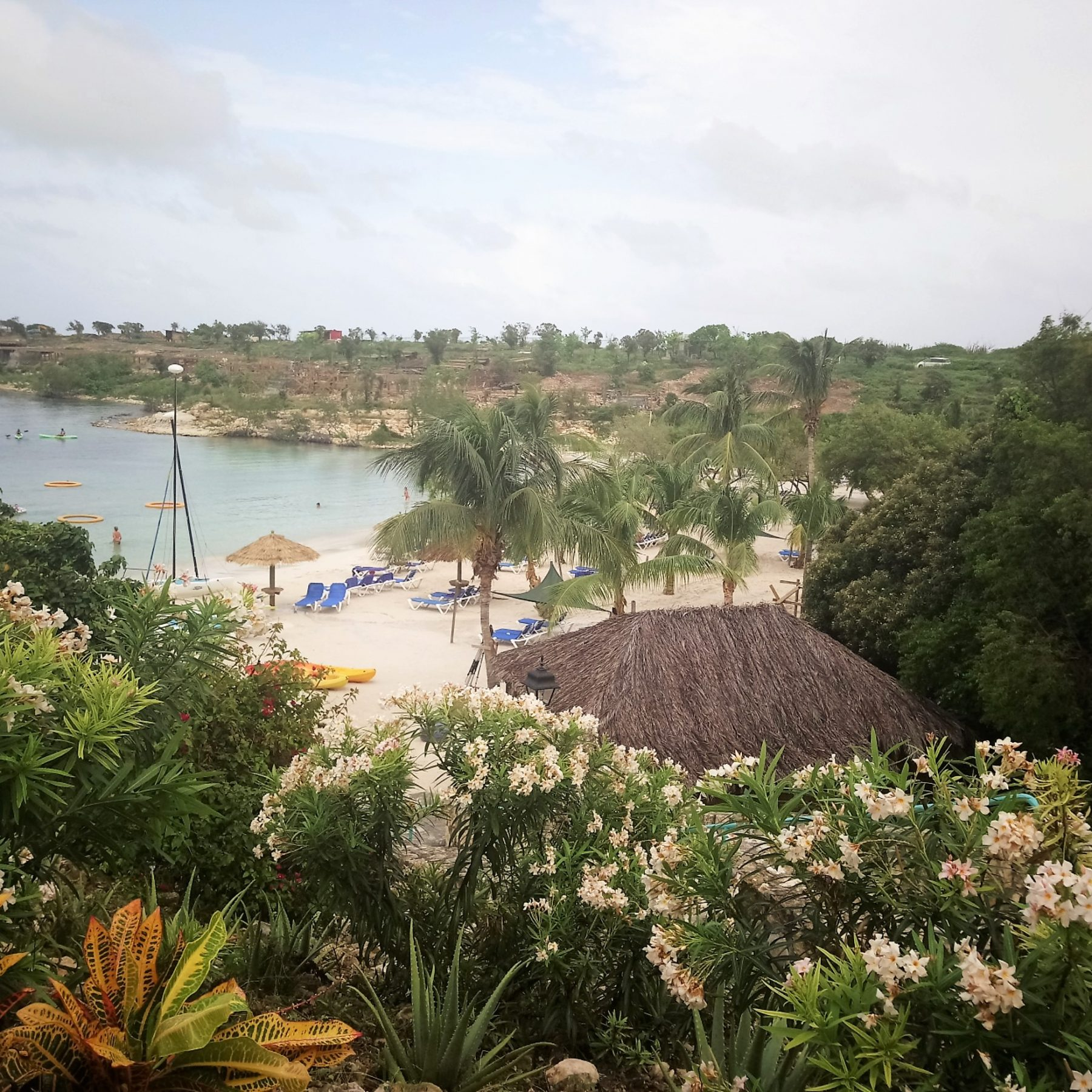 View of Lover's Beach from a Waterview Suite at The Verandah Resort Antigua