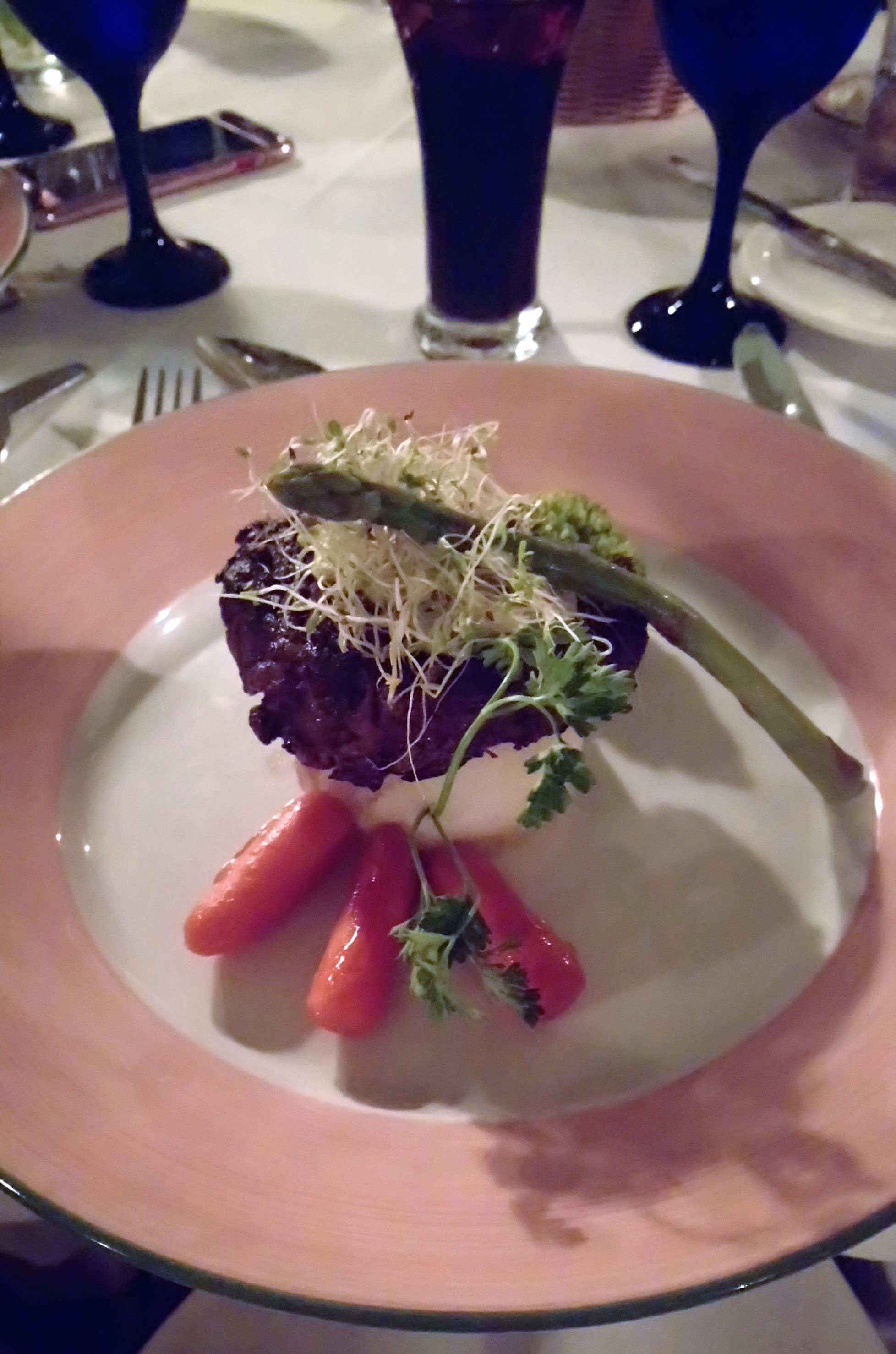 Filet Mignon at Nicole's Restaurant in The Verandah Resort Antigua