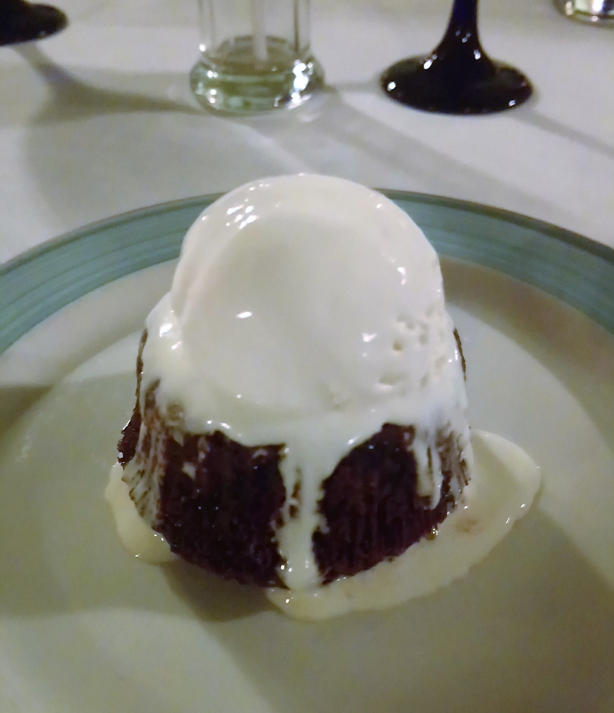 Hot Chocolate Melt Pudding Dessert at Nicole's Restaurant in The Verandah Resort Antigua