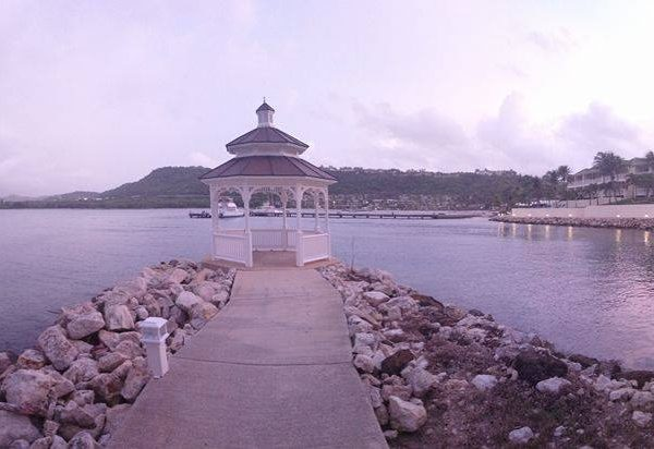 Panoramic of Mamora Bay at St James Club Antigua at Dusk