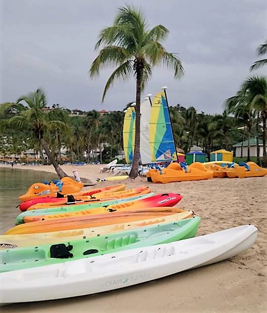 Water sports at Mamora Bay Beach at St James Club Antigua