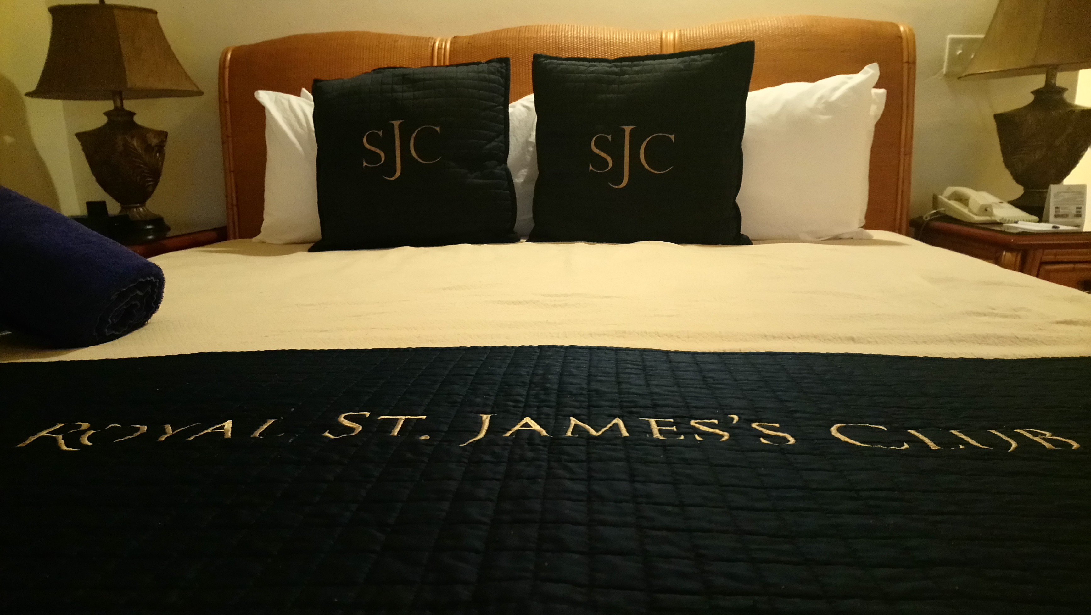 View of the King-Size Bed in a Royal Suite at St James Club Antigua