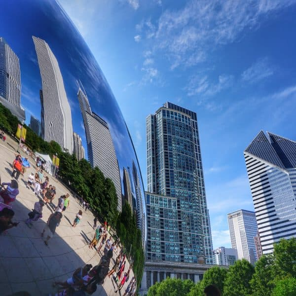Photo of Chicago 'The Bean' and skyscrapers