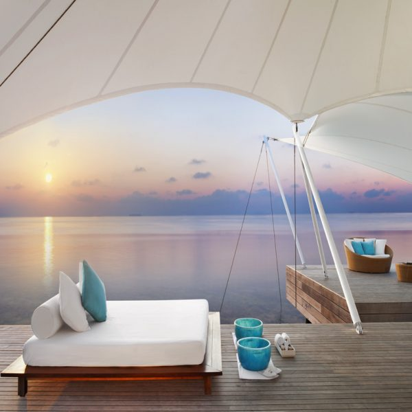 View of the Away Spa looking over the Indian Ocean at W Maldives