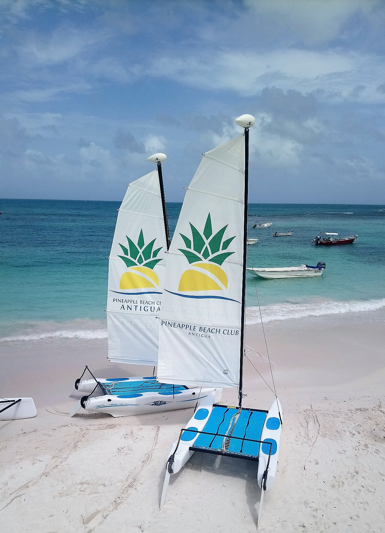 Hobie Cat Sailing at Long Bay in Pineapple Beach Club Antigua