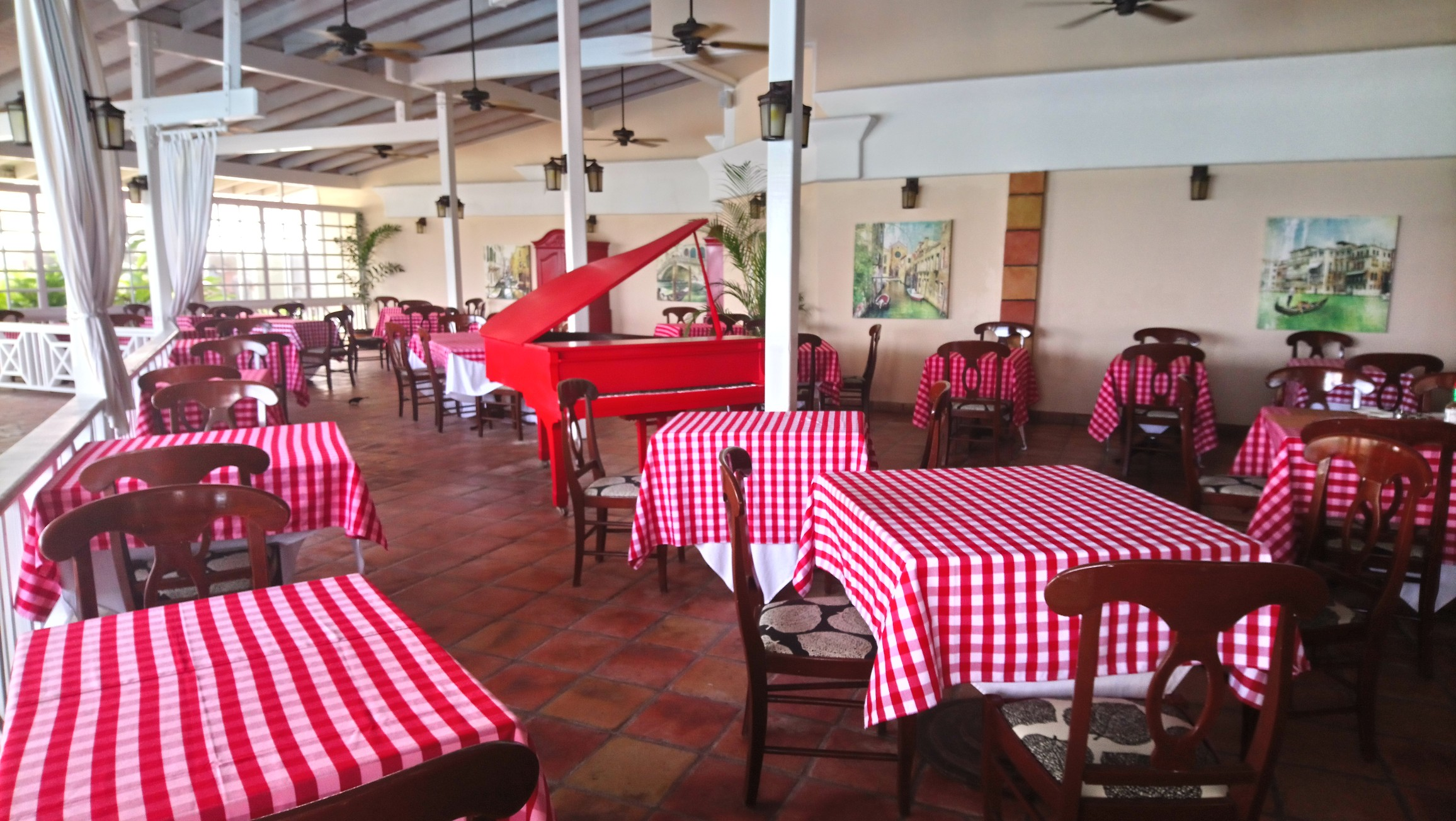 Interior of Chef Pietro's Restaurant at Pineapple Beach Club Antigua