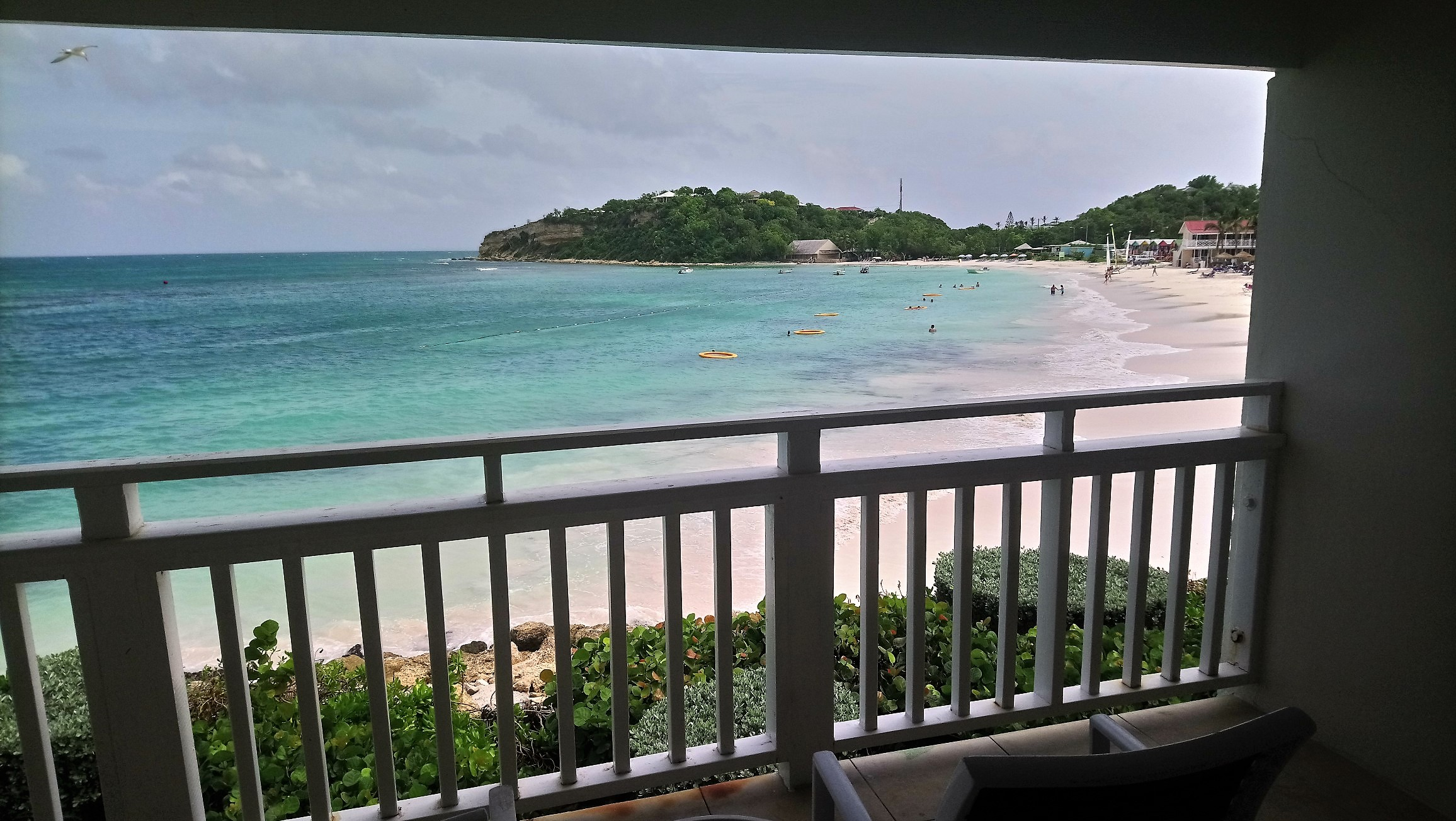 Balcony View from a Waterfront Room at Pineapple Beach Club Antigua