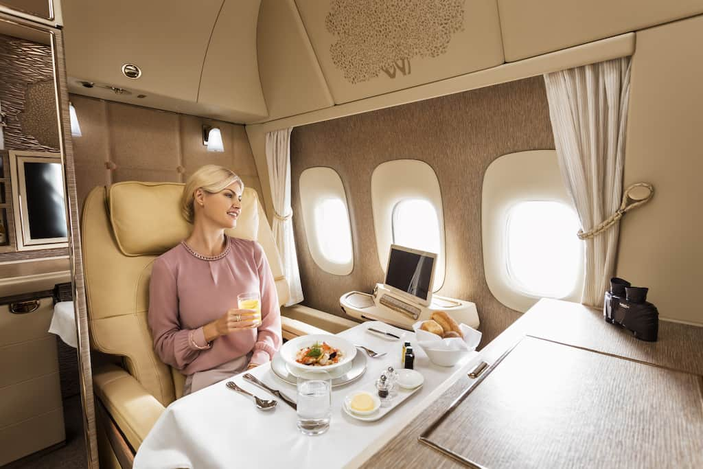 Emirates first class suites dining
