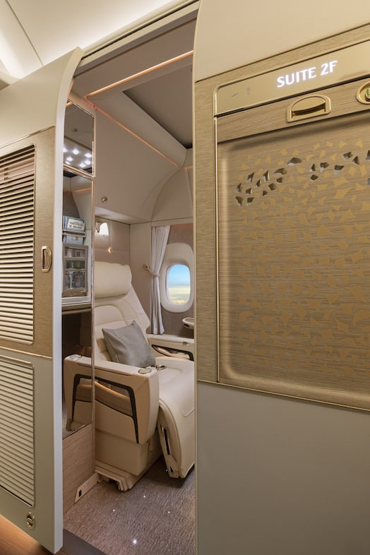 Emirates First Class Suites full enclosed
