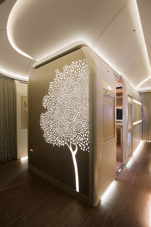 Emirates first class suites tree motif