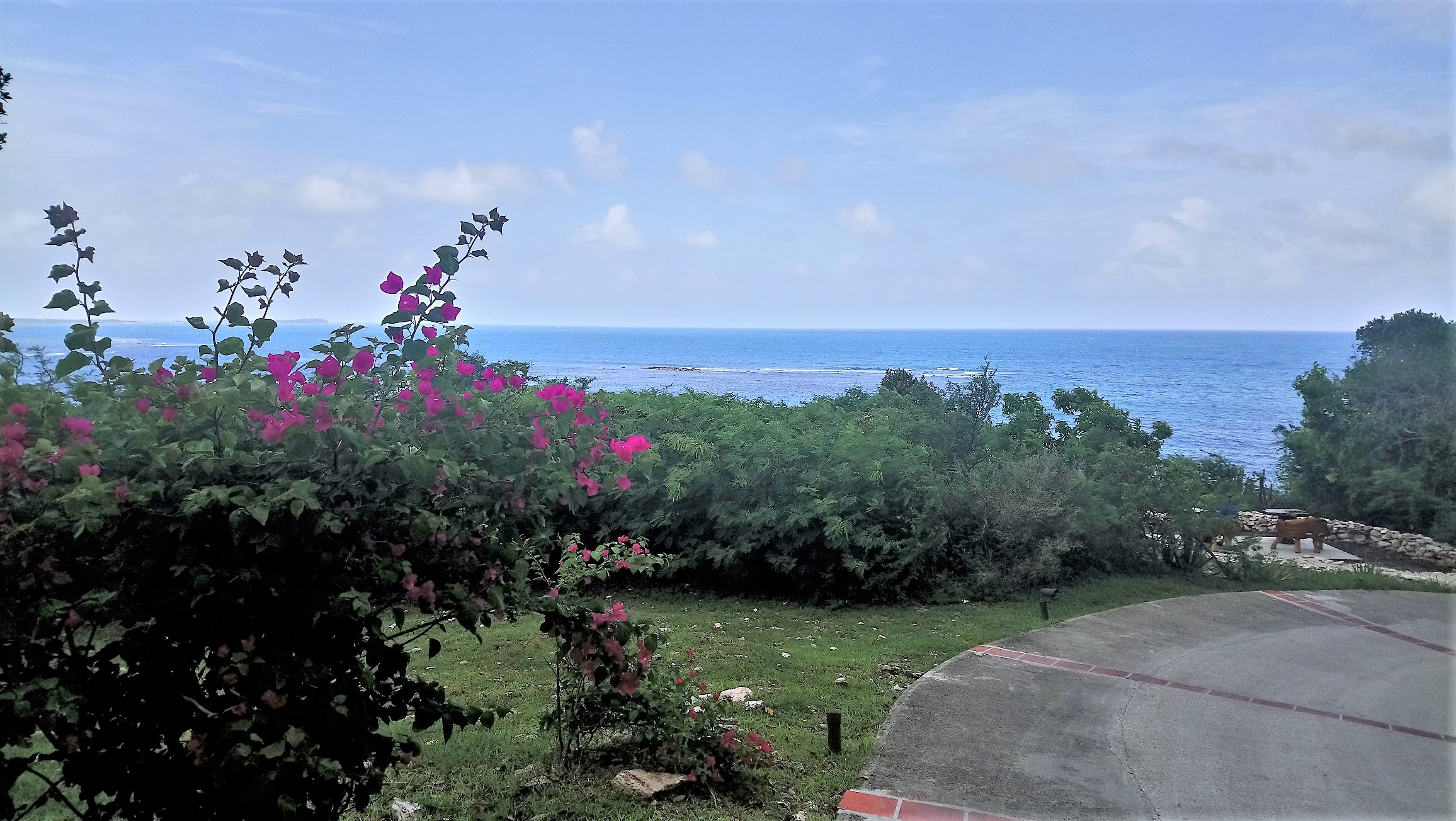 The view from the top of the hill at The Outhouse in Pineapple Beach Club Antigua