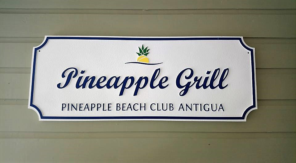 Pineapple Grill Sign at Pineapple Beach Club Antigua