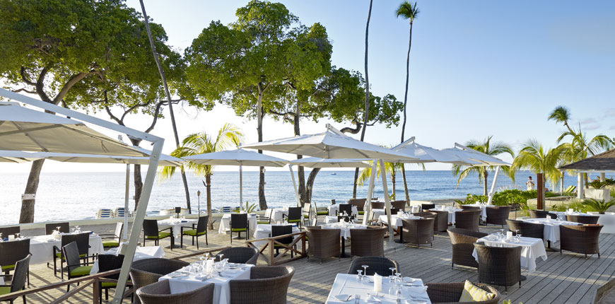 View of the dining overlooking the sea at Tamarind by Elegant Hotels Barbados