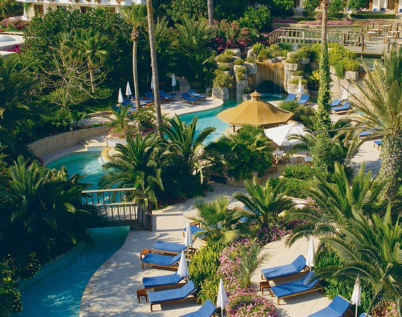 Gardens and swimming pool at Annabelle Paphos