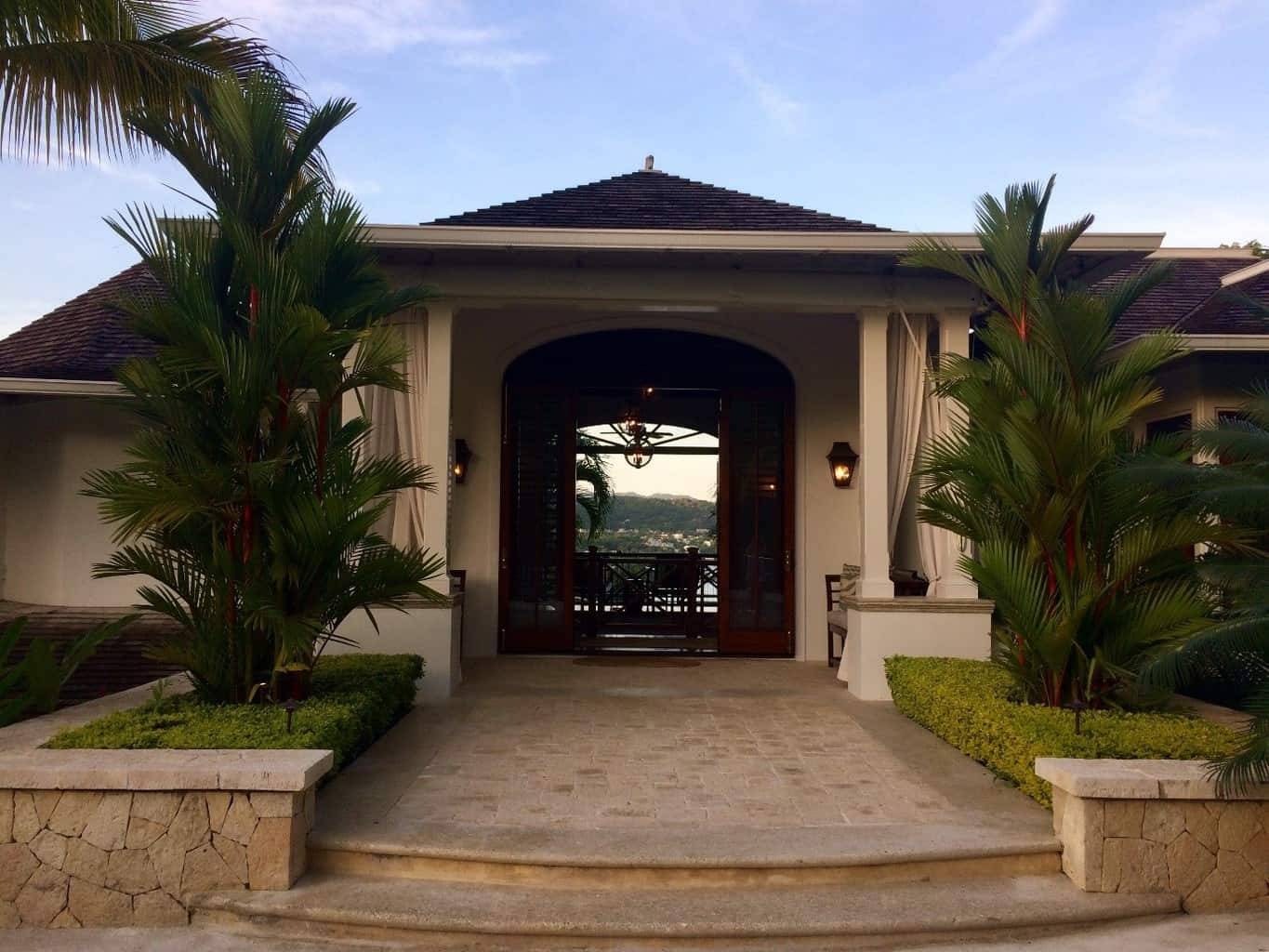 Villa 20 entrance at Round Hill Resort & Villas