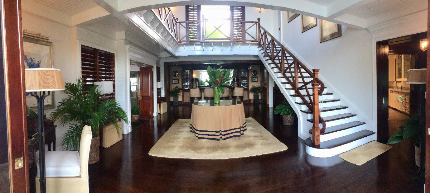 Two-storey foyer at Villa 20 at Round Hill Resort & Villas in Jamaica