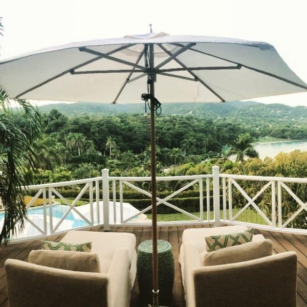 The view from my balcony in Suite 83B at Round Hill Resort & Villas in Jamaica