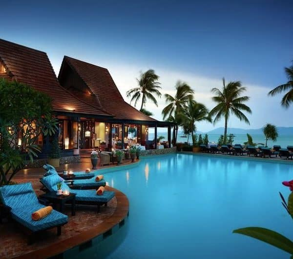 Swimming pool at Bo Phut Resort & Spa in Koh Samui, Thailand