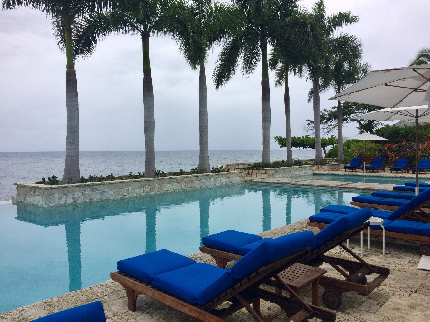 Infinity pool at Round Hill Resort & Villas in Jamaica