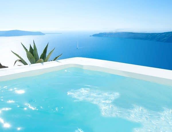 Pool at Grace Santorini in Greece