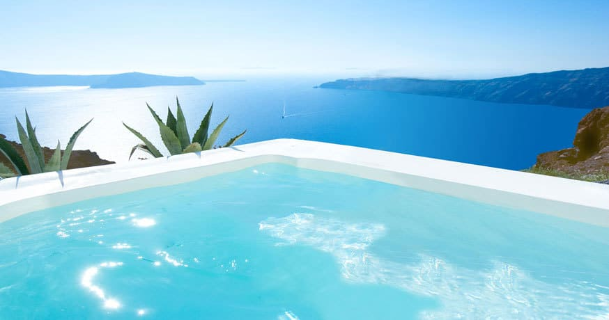 Pool at Grace Santorini in Greece