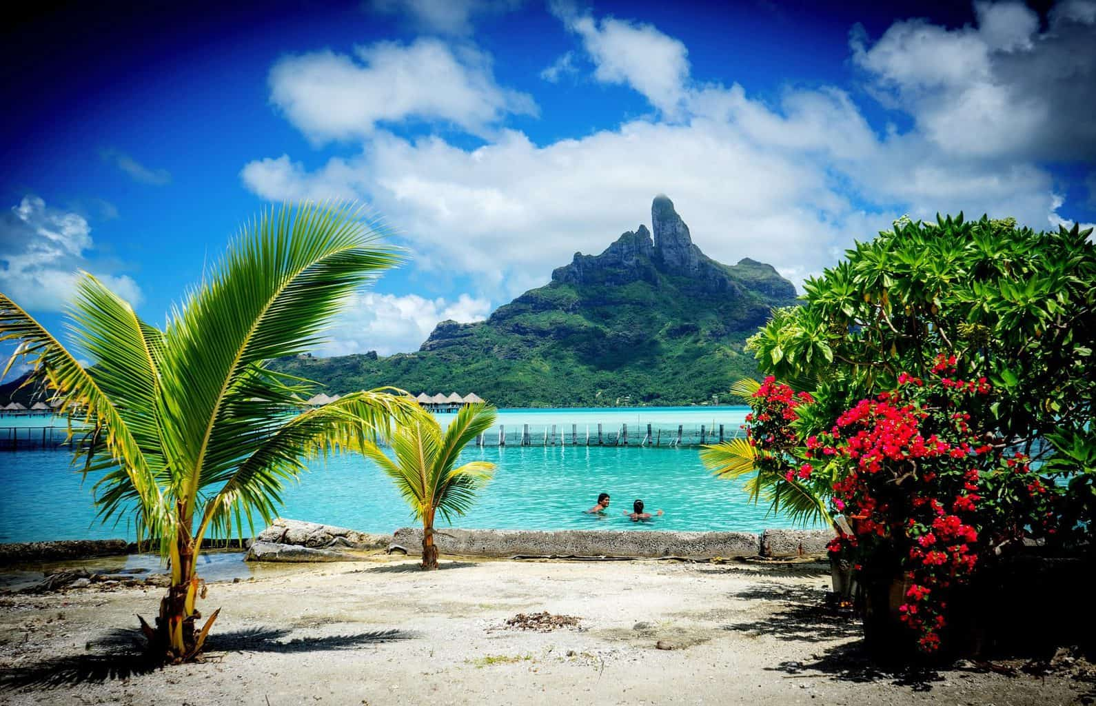 Beach in French Polynesia