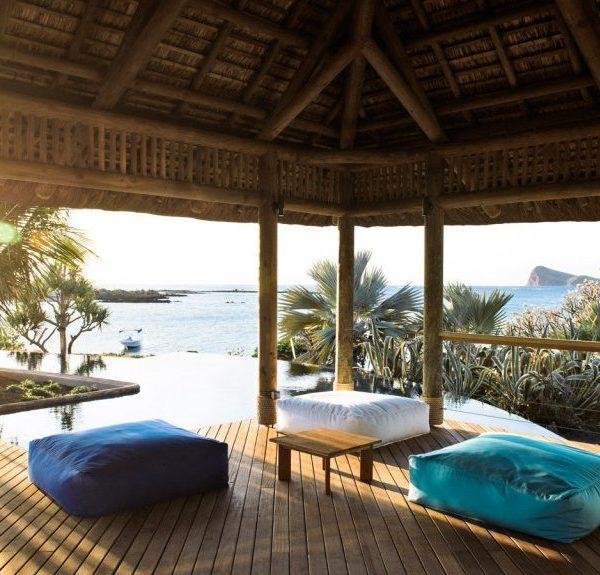 Dining venue at Paradise Cove Mauritius