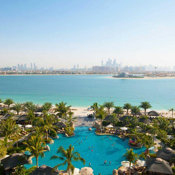 View across the Arabian Gulf from Sofitel The Palm Resort & Spa, Dubai