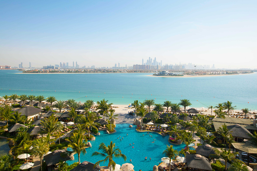 View across the Arabian Gulf from Sofitel The Palm Resort & Spa, Dubai
