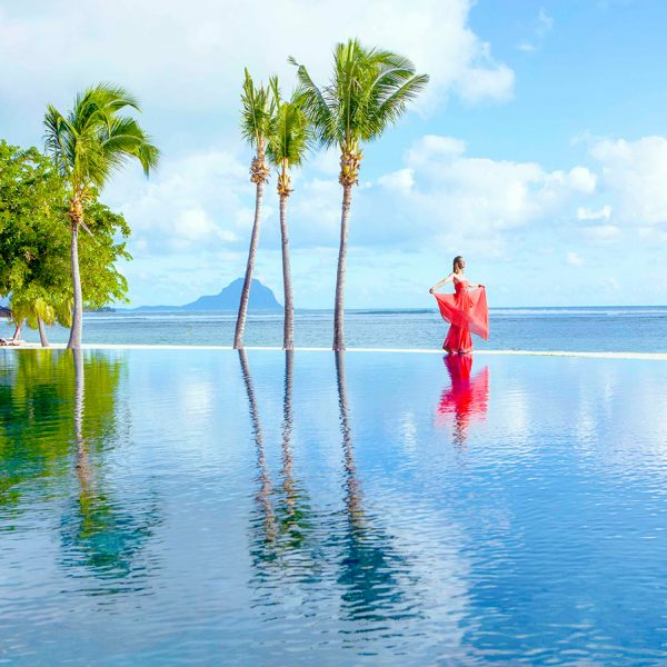 Infinity Pool at Maradiva Villas Resort & Spa in Mauritius