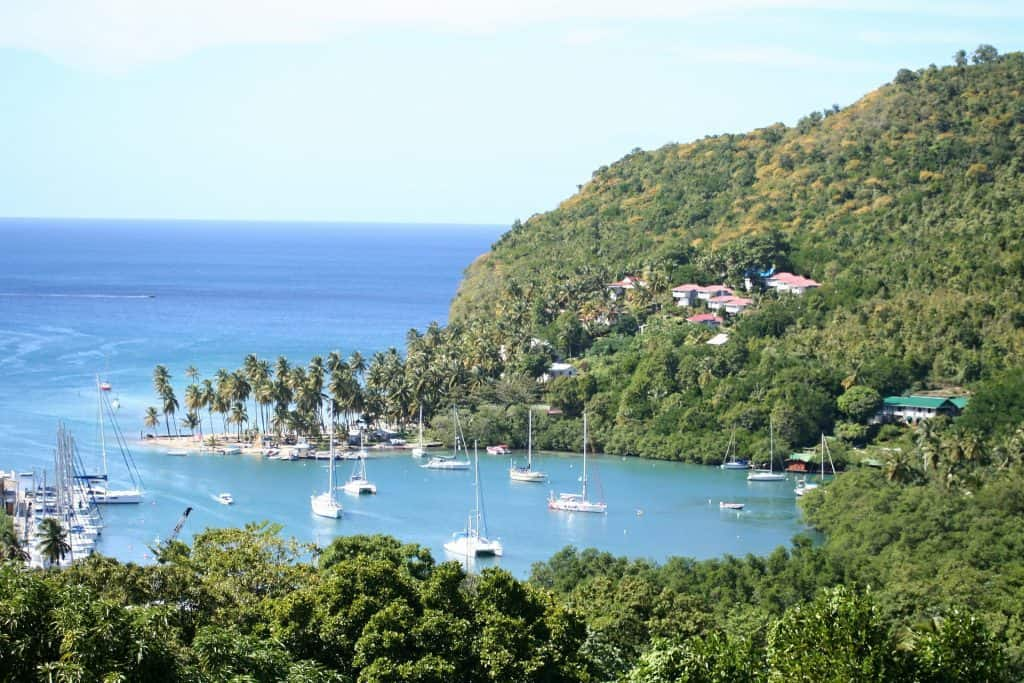 Island view of St Lucia - Top Destinations Travel Blog