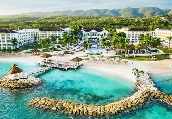 Hyatt Ziva Rose Hall Aerial View in Jamaica